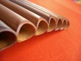 Anschliff und Rohröffnung von Bambus