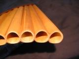 Rohröffnung und perfekter Anschliff von Bass Rohren aus Malaischen Langbambus