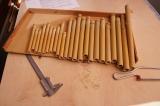 Abgeschälte Bambusrohre